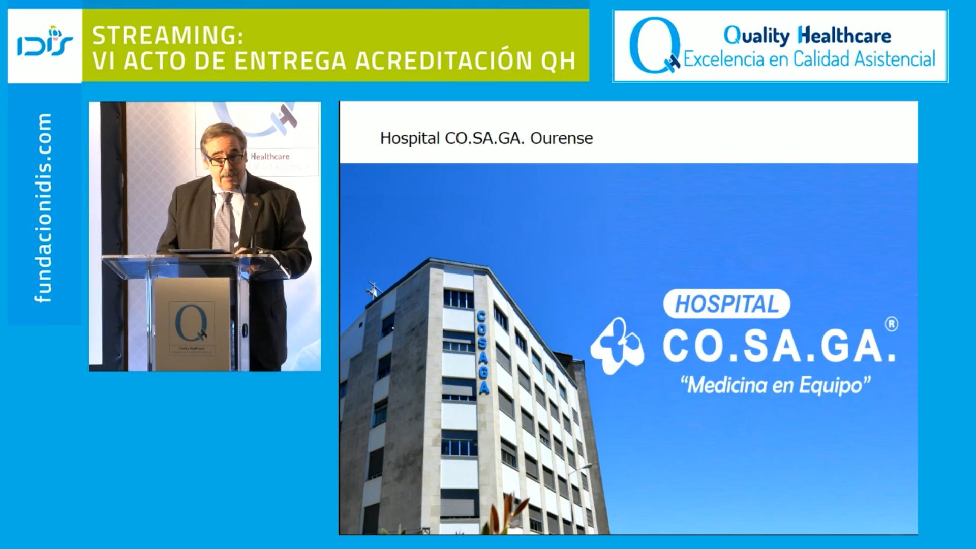 El Hospital Cosaga suma una segunda estrella a la acreditación QH por su compromiso con la calidad asistencial
