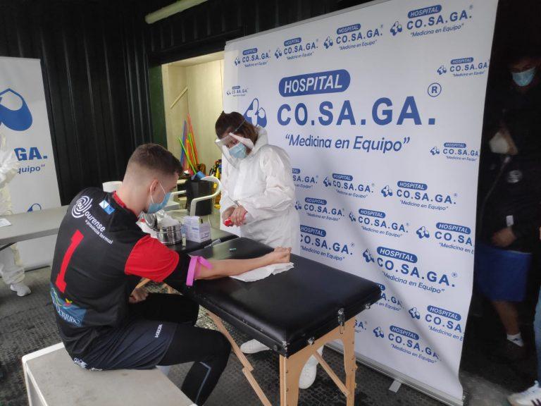 El Hospital Cosaga y Cendisa realizan test serológicos a la UD Ourense
